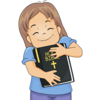 Picture of Girl with Bible for Cover Photo